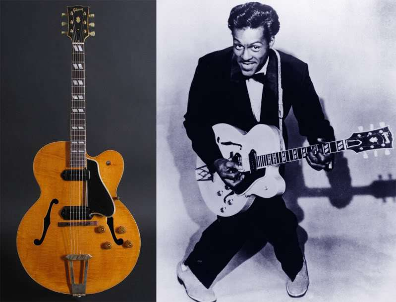 Chuck Berry with the Gibson ES-350
