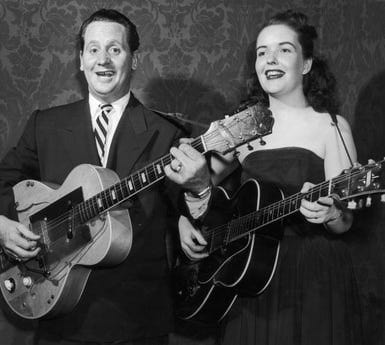 Les Paul and his wife, Mary Ford