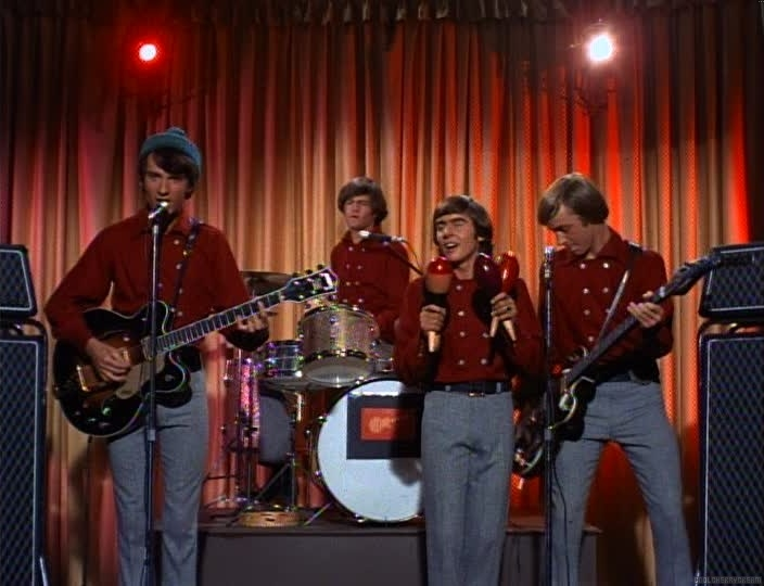 Monkees with their Gretsch guitars