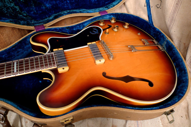 Epiphone Sheraton which was built by Gibson in 1959 with New York pickups