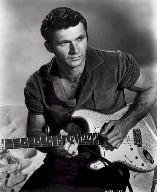 Dick Dale with a left handed Stratocaster