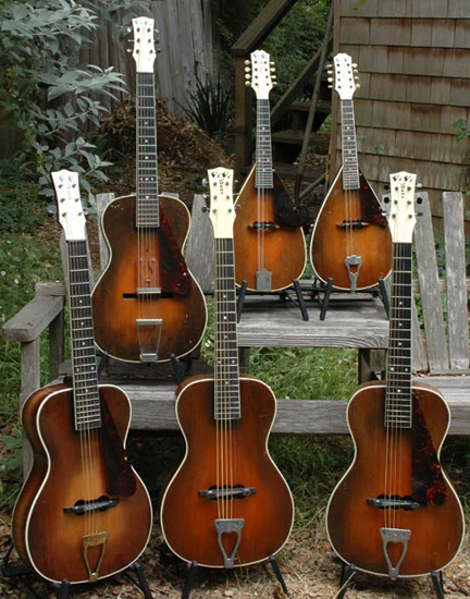 Six of Lloyd Loar's Vivitone Instruments
