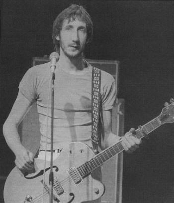 Pete Townsend with Gretsch guitar