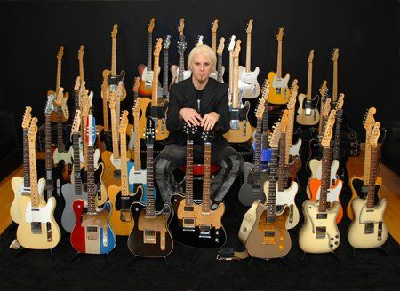 John 5 with some of his huge Telecaster collection