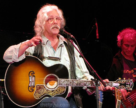 arlo guthrie and his beautiful j-200 vine guitar