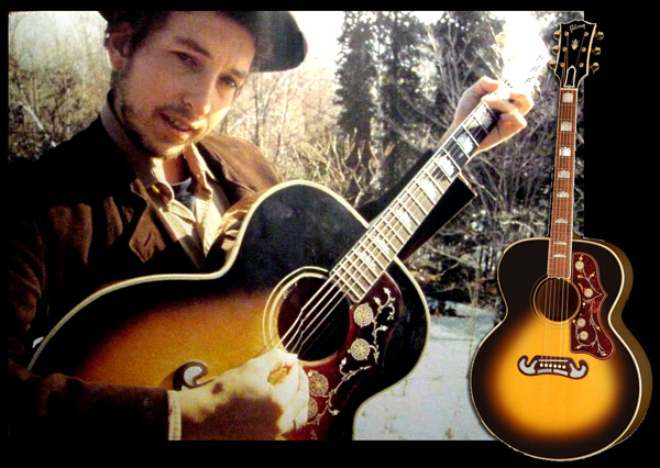 Bob Dylan with Gibson SJ-200