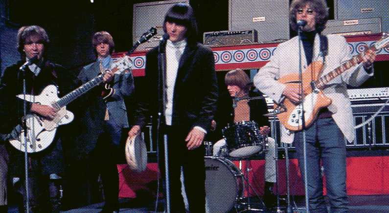 David Crosby with the Byrds playing a White Falcon