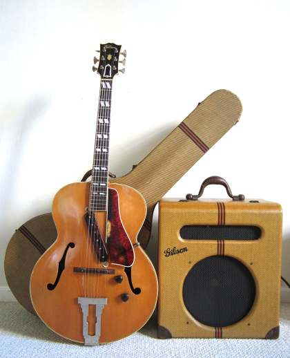 Gibson ES-300 guitar and 1940 EH-185 Amplifier