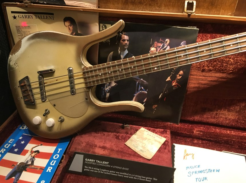 Gary Tallent of Springsteen's E Street band's Dano Bass that was converted from a 6-string to a 4-string bass