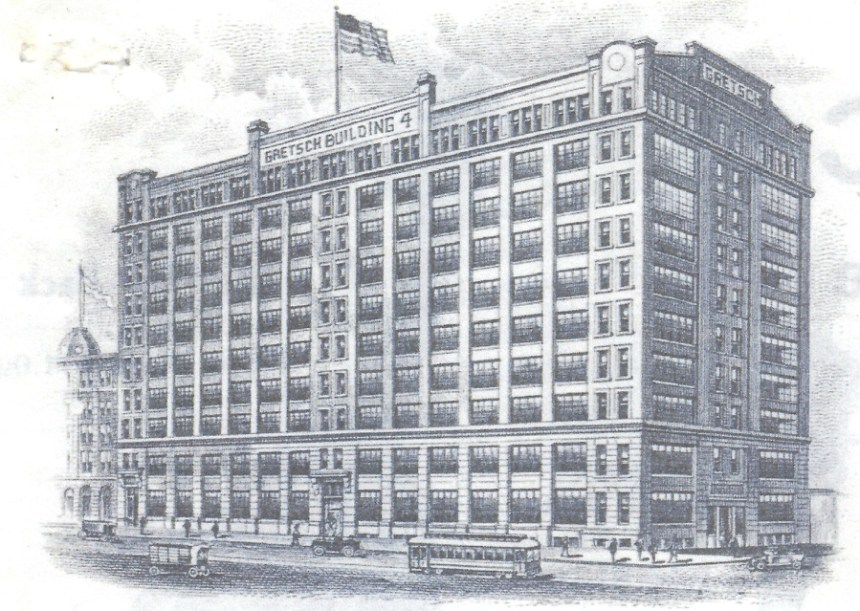 Gretsch Building in Brooklyn Illustration