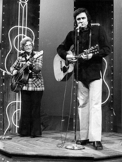 Mother Maybelle Carter and Johnny Cash