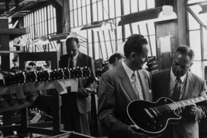 Ted McCarty and Les Paul at Gibson Factory