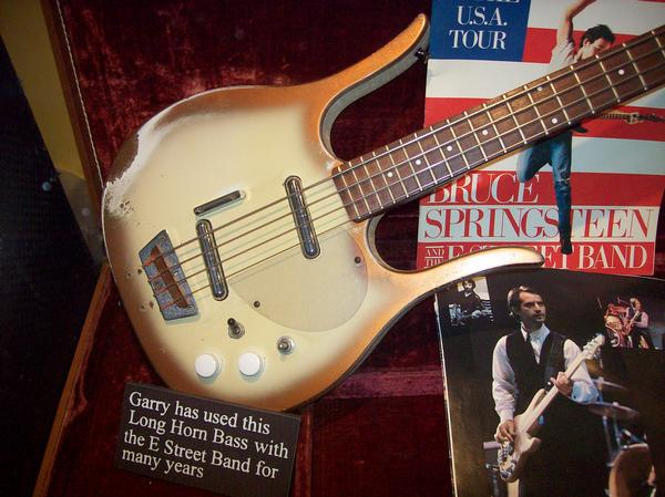 Garry Tallent played Longhorn Bass early on with the E Street Band