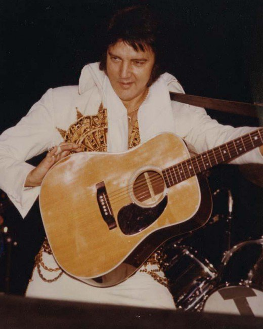 Elvis with his Martin D-28