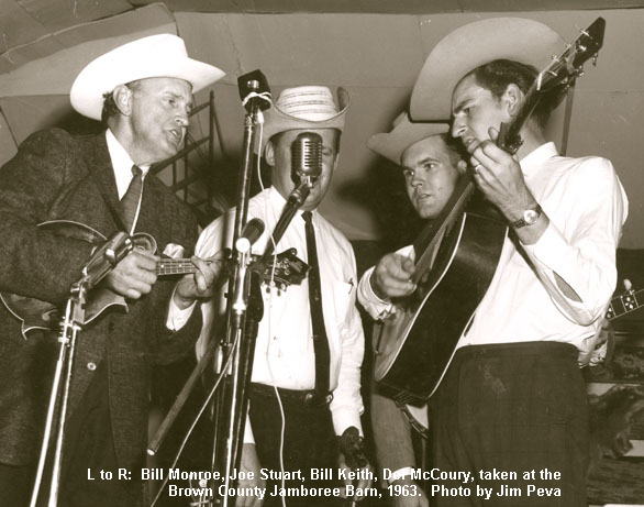 Bill Monroe with D-28 being played by Del McCoury