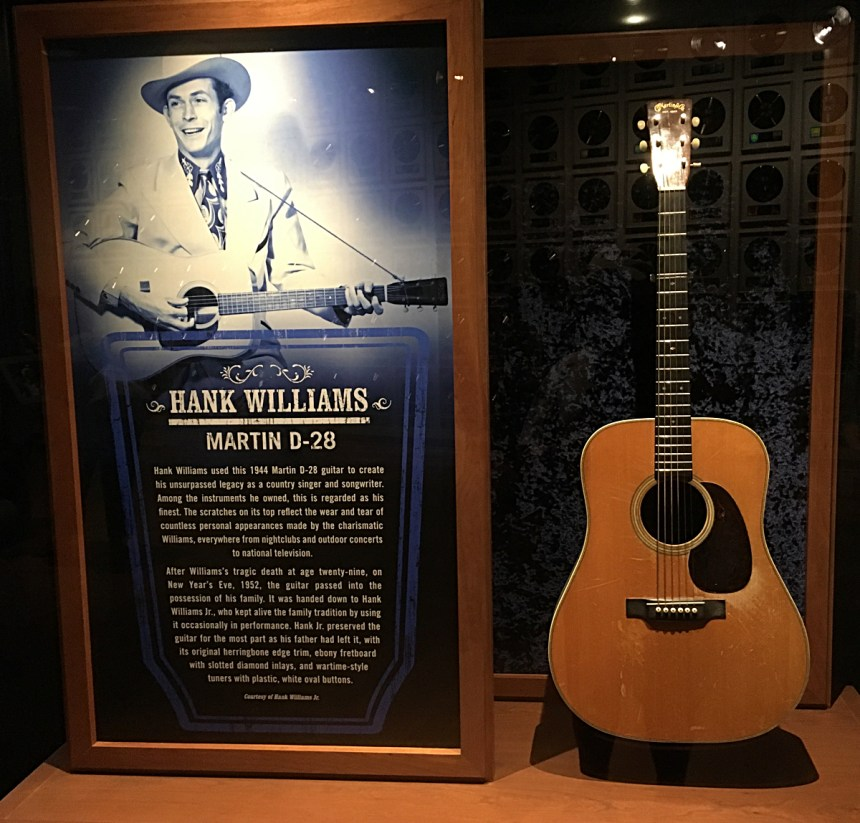 Hank Williams Martin D-28 at Country Music Hall of Fame Museum