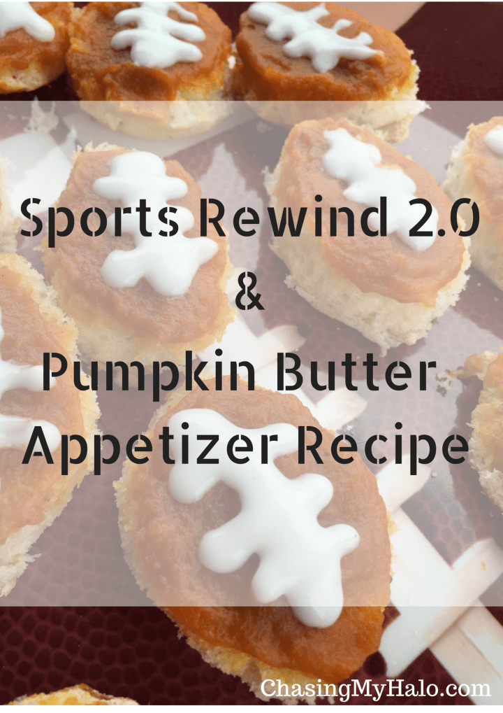 Vanilla Pumpkin Butter Football Appetizers