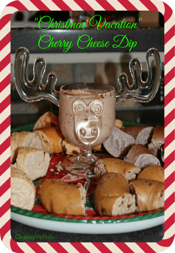 """Christmas Vacation"" Cherry Cheese Dip Appetizer"