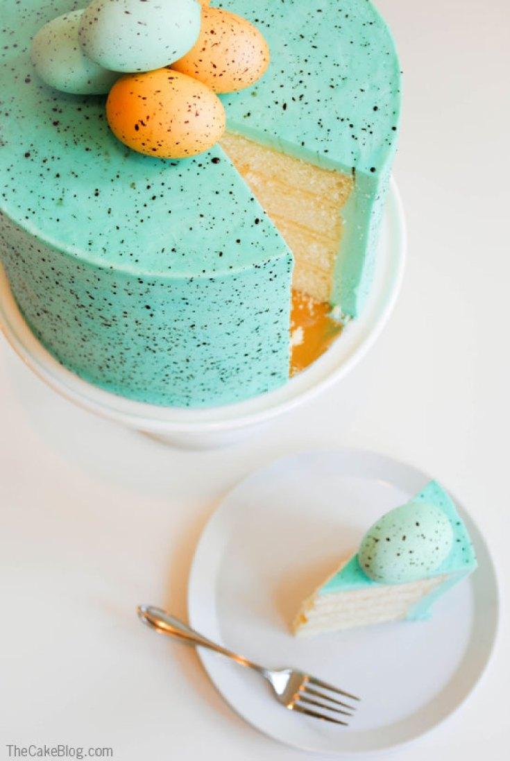 Speckled Easter Egg Cake