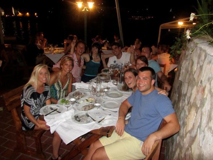 Croatia Vis Town Dinner