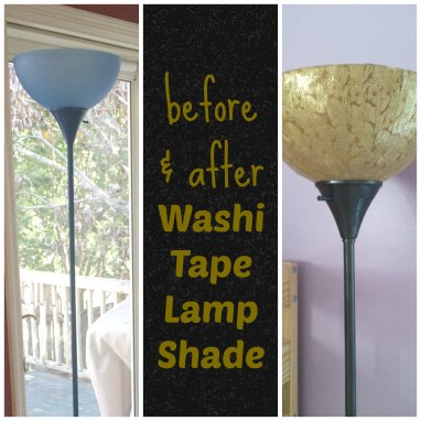 washi tape lamp shade