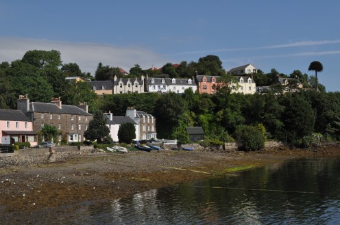 Houses and a harbour at Portree