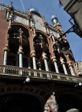 Part of the outside of The Palau de la Musica Catalana - Chasing Starry Skies