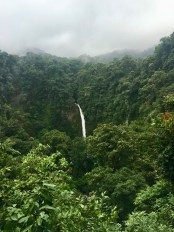 This is the view of the waterfall after passing the entrance