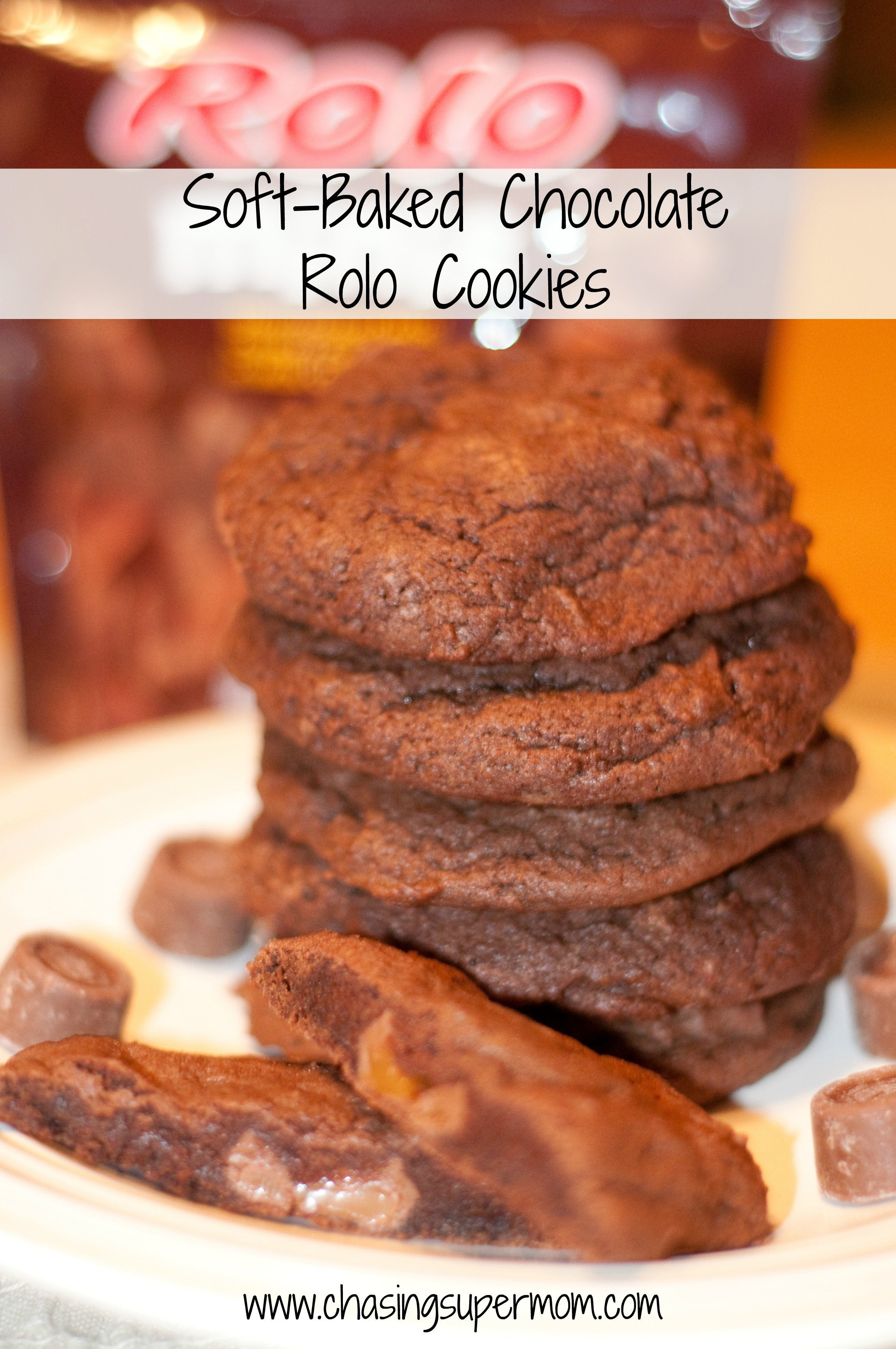 Soft Baked Chocolate Rolo Cookies