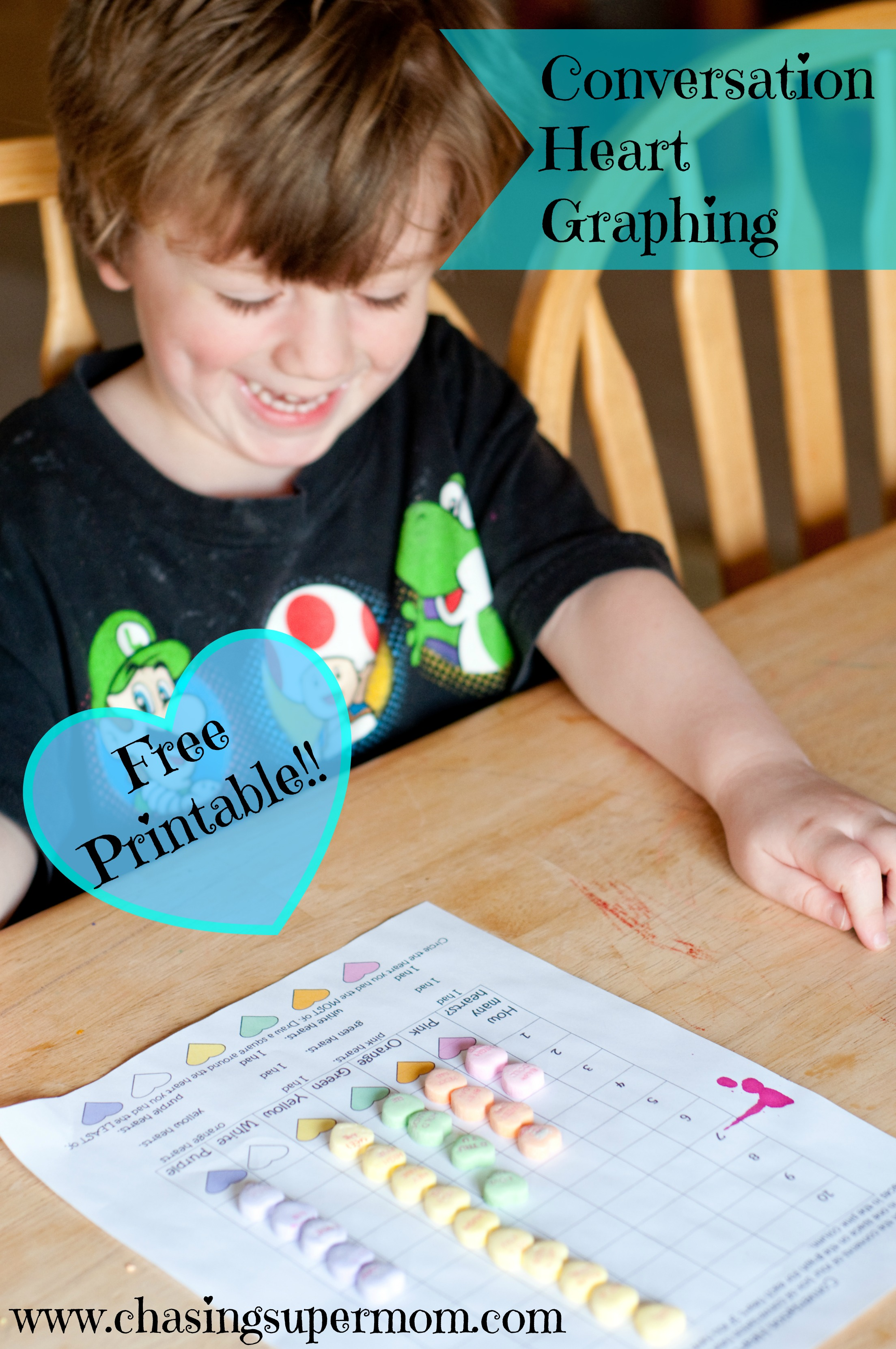 Conversation Hearts Graphing Worksheet