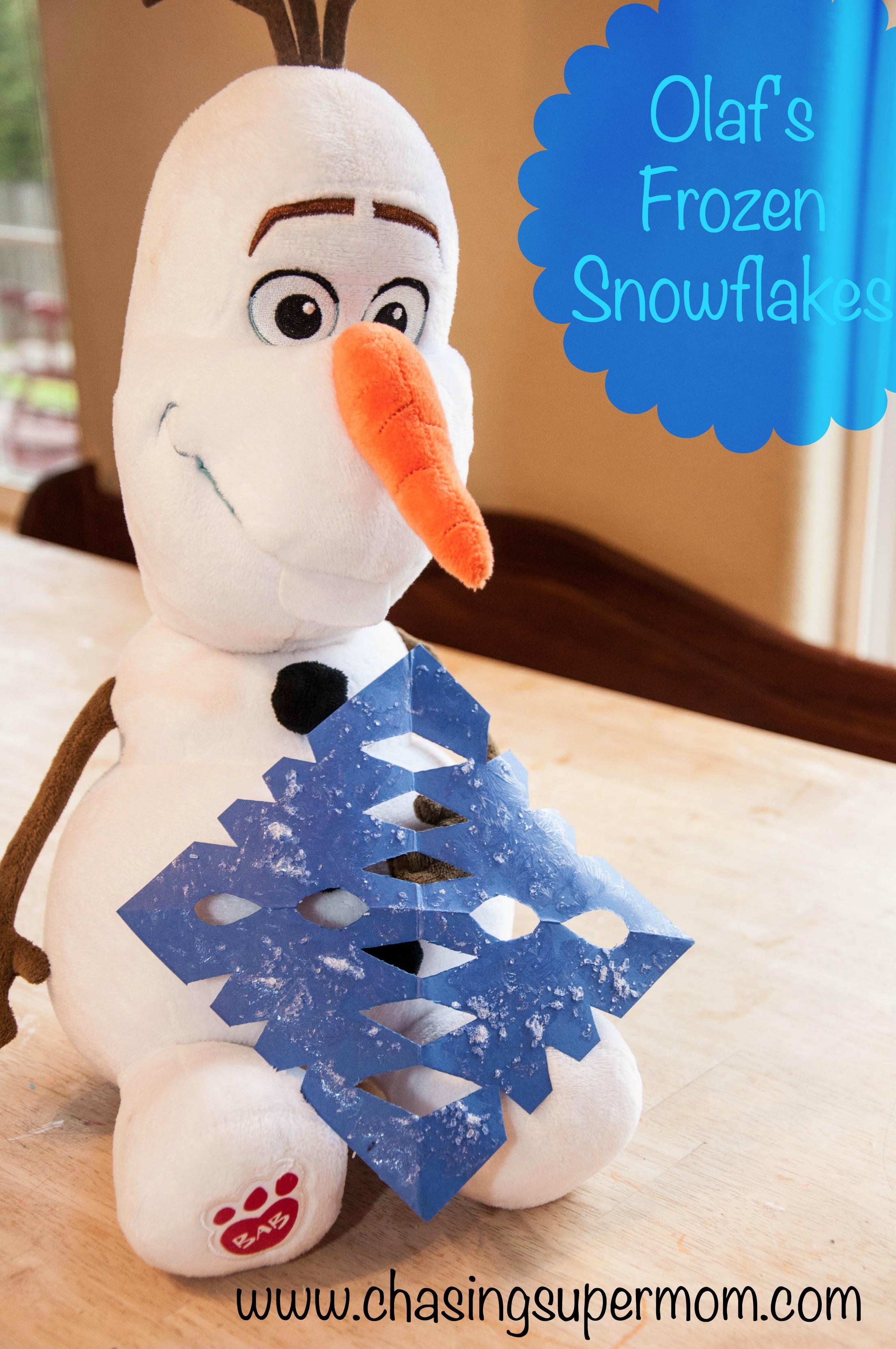 Olaf S Frozen Snowflakes Epsom Salt Crystal Snowflakes