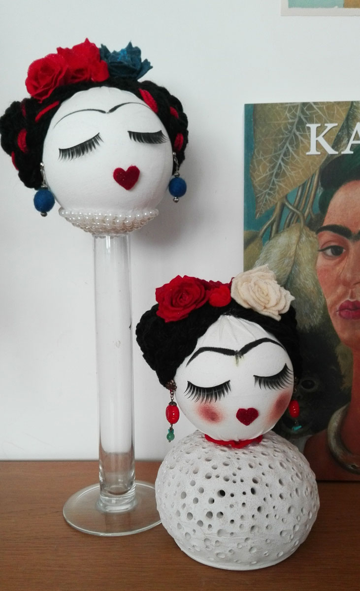 sfere decorative frida kahlo