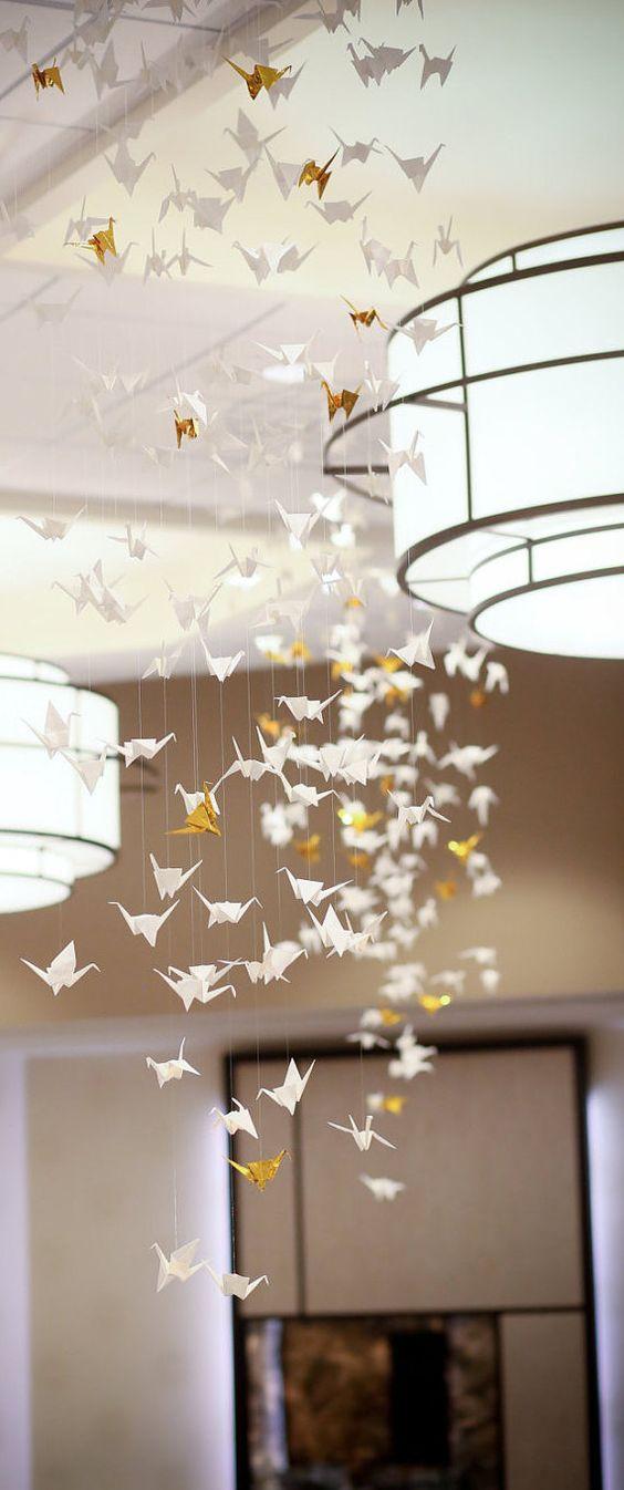 decorazione con origami gru