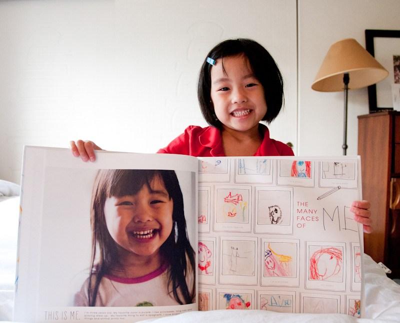 album con disegni dei bambini