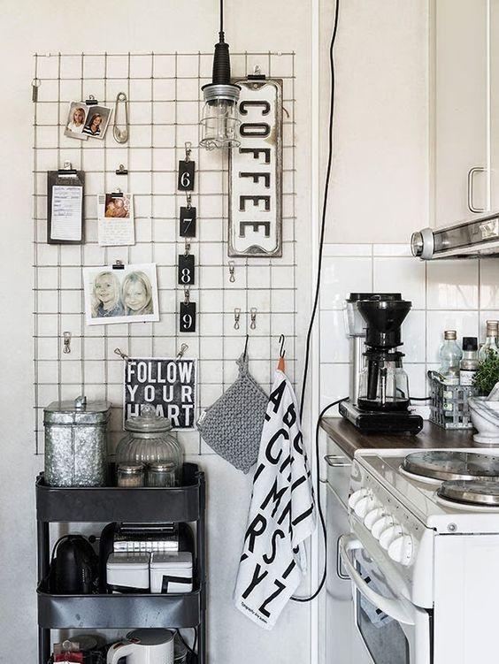 rete metallica in cucina