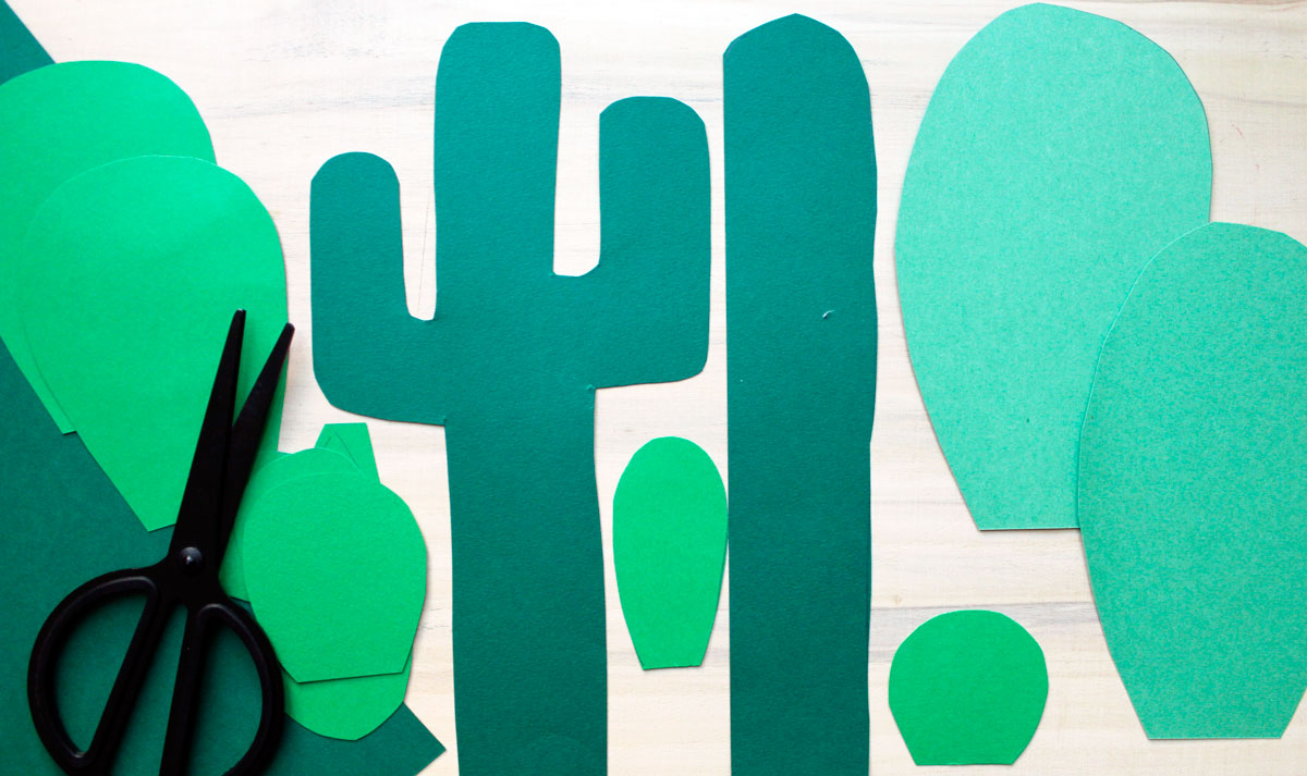 sagome cactus di carta fai da te