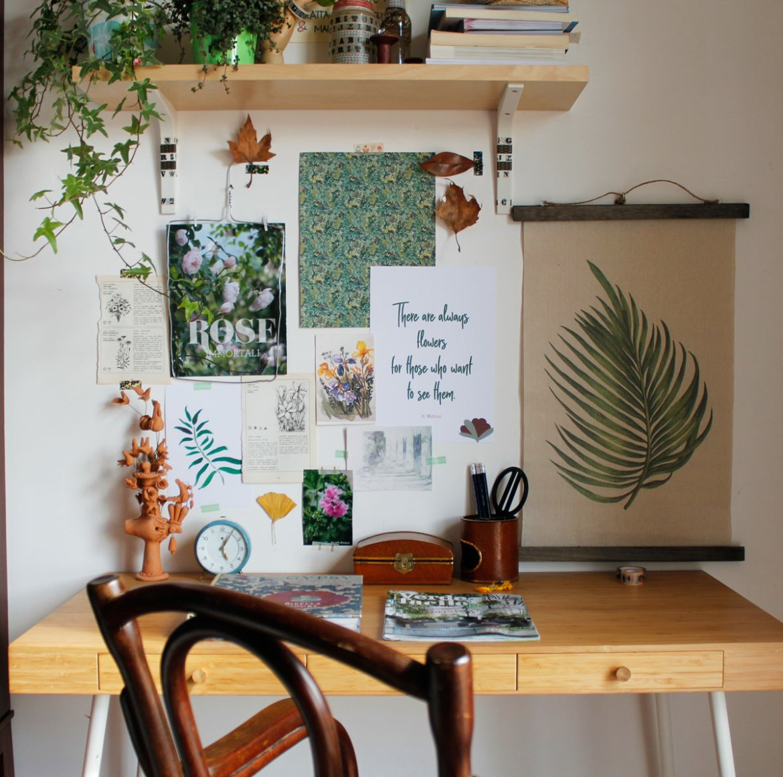 moodboard a tema botanico