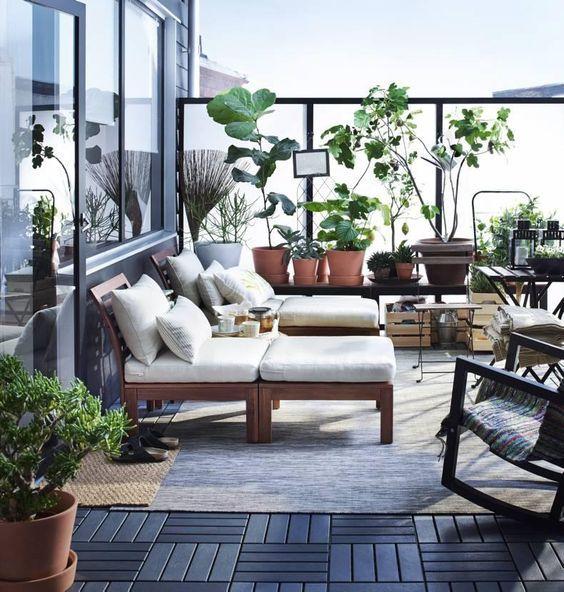 arredare balcone per ammirare il cielo