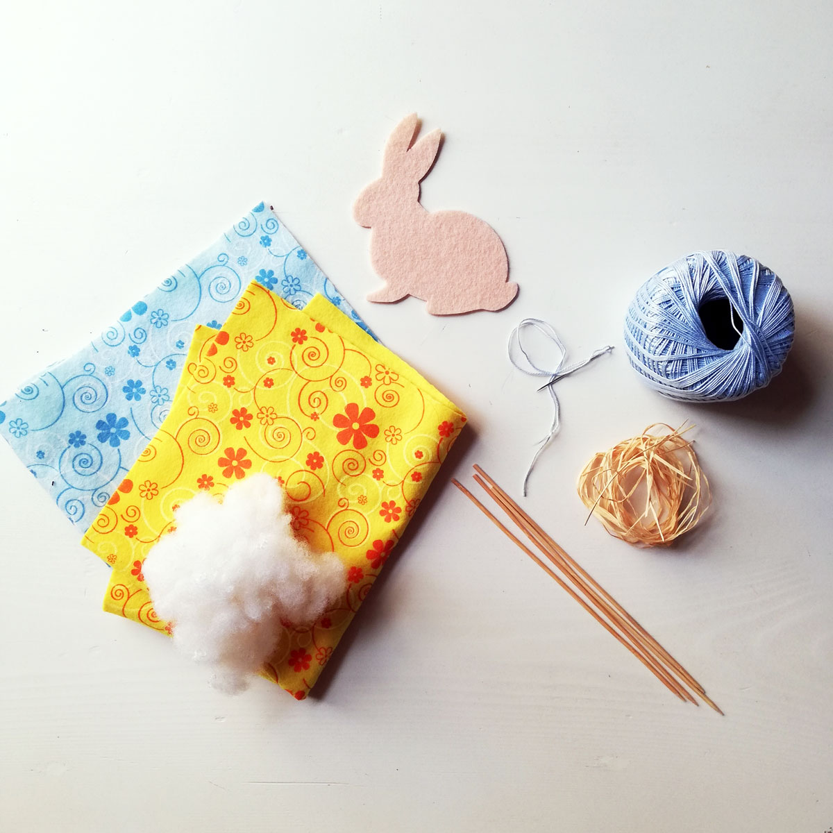 materiali per coniglio feltro segnaposto tavola pasqua