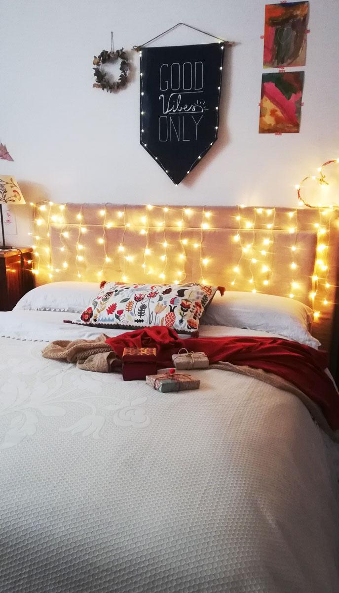 atmosfera di festa in camera da letto