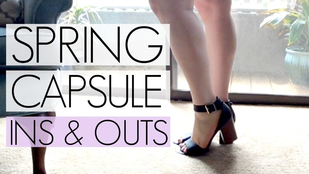 Winter to Spring Capsule Wardrobe Transition