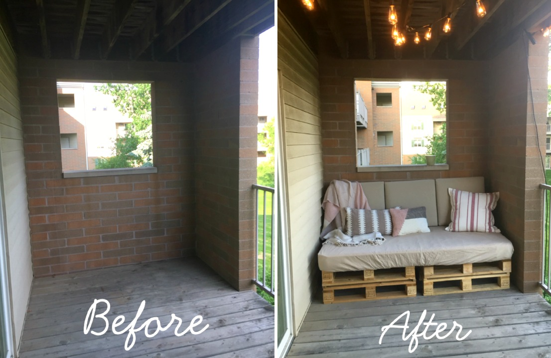 Balcony Makeover With Diy Pallet Couch