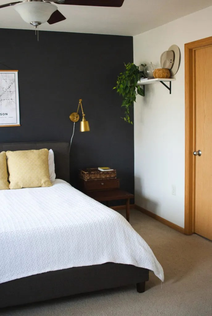 Dark Gray Bedroom Accent Wall Chasing The Look