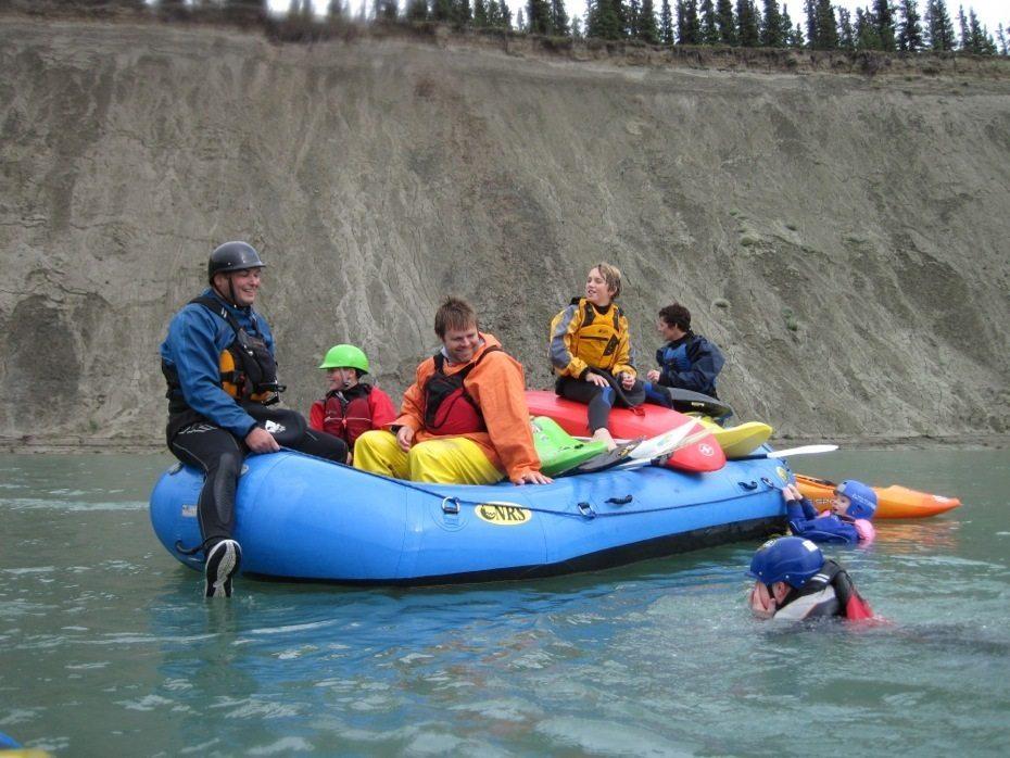 takhini loaded raft