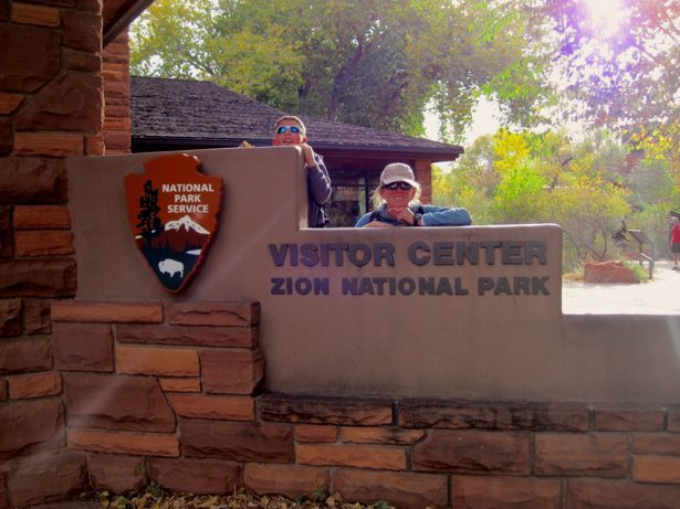 lee hunter zion national park sign