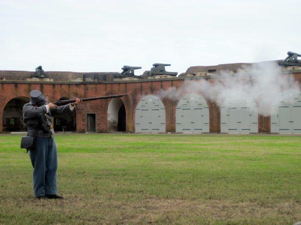 fort pulaski musket firing