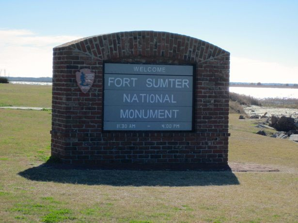 fort sumter sign