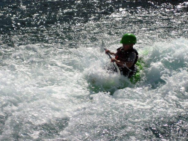hunter surfing the wave rio vista
