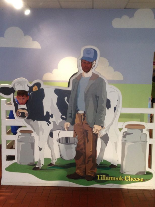 Tim & Hunter as dairy farmers