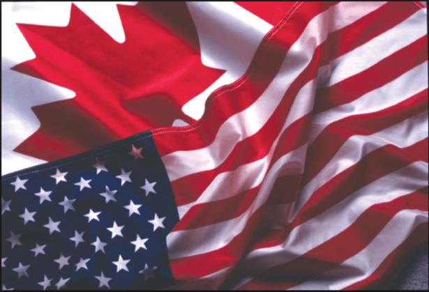 canada usa flag